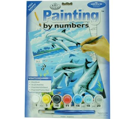 ערכת ציור לילדים - דולפינים