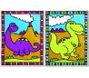 ערכת ציור לילדים עם 2 ציורים - דינוזאורים