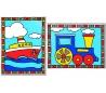 ערכת ציור לילדים עם 2 ציורים - כלי תחבורה
