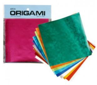 נייר אוריגמי מיוחד מנייר כסף צבעוני