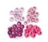ניטים צבעוניים קטנים - גווני ורוד