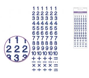 מדבקות מספרים מאבני חן - גוון כחול