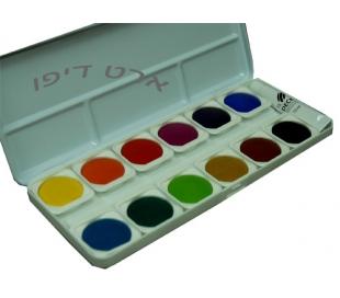 סט צבעי מים קשיחים לציור טאלנס