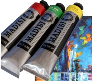 """צבעי שמן איכותי מדיסי בשפופרת  170 מ""""ל"""