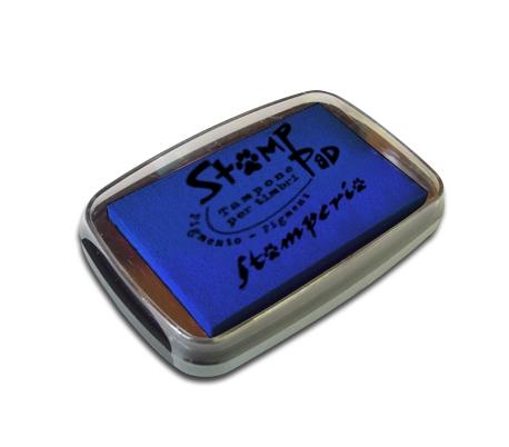 כרית דיו פיגמנטי לחותמות - כחול