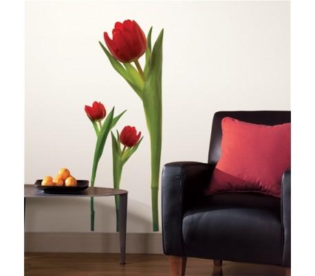 מדבקת קיר  פרחי טוליפ -גדולה