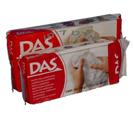 חומר פיסול דס בצבע לבן (DAS)