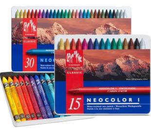 קרנדש NEOCOLOR I   צבעי פסטל שעווה מקצועי ב 3 גדלים