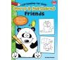 ספר לימוד דמויות מצוירות לילדים - חיות וציפורים