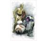 מדבקת קיר מלחמת הכוכבים  7 רובוטים ענק - C3PO R2D2 BB-8