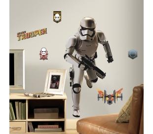 Storm trooper מדבקת קיר מלחמת הכוכבים 7 חייל  ענק
