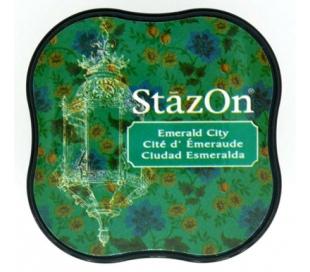 כרית דיו פרמננטי בצבע ירוק אמרלד STAZON MIDI