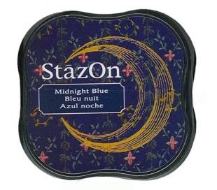 כרית דיו פרמננטי בצבע כחול לילה STAZON MIDI