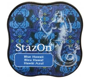 כרית דיו פרמננטי בצבע כחול הוואי STAZON MIDI