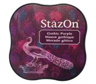 כרית דיו פרמננטי בצבע סגול כהה STAZON MIDI