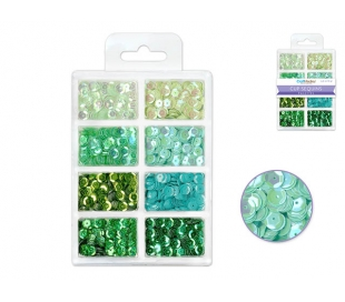פייטים ב-8 גוונים - ירוקים