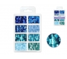 פייטים ב-8 גוונים - כחולים