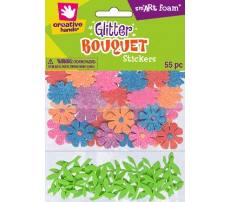 מדבקות סול נצנצים זר פרחים