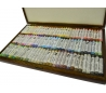 סט 99 צבעי פסטל מקצועי רנסנס במזוודת עץ מפוארת
