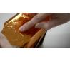 יצירת מגש יפיפה עם עיטור עלי זהב בתלת מימד
