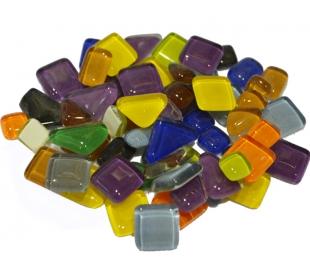 """פסיפס זכוכית קריסטל בצורות שונות 1/2 ק""""ג"""