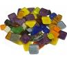 """מארז 1/2 ק""""ג פסיפס זכוכית קריסטל צבעוני -צורות שונות"""