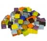 """פסיפס זכוכית קריסטל צבעוני 1*1 סמ במארז 1/2 ק""""ג"""