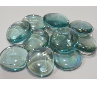 אבני זכוכית נגצים שקופים גדולים מראה קרח 200 גרם