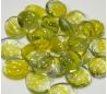 אבני זכוכית - נגצים קטנים שקופים עם עיטור צהוב 200 גרם