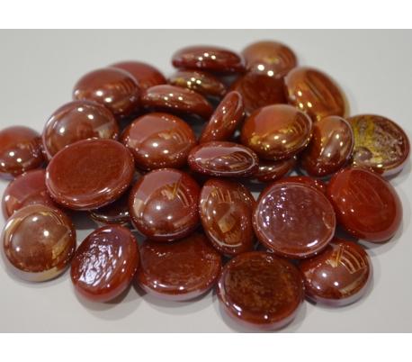 אבני זכוכית נגצים אטומים קטנים אדום 200 גרם