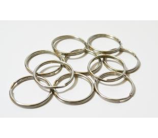 טבעת כפולה כסף - 10 יחידות