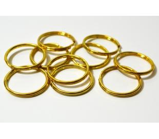 טבעת כפולה זהב - 10 יחידות