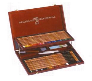 סט 100 עפרונות רמברנט פוליקולור מקצועיים
