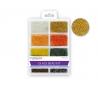 חרוזי זכוכית סט 8 סוגים - מטאלים
