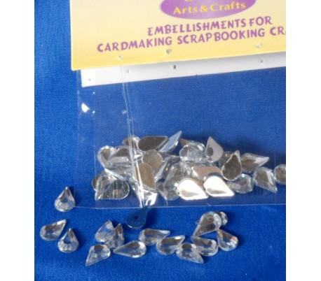 אבנים אקריליות טיפות יהלום קטנות 30 יח