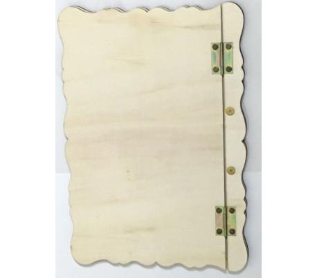 אלבום עץ מעוטרת גודל A4
