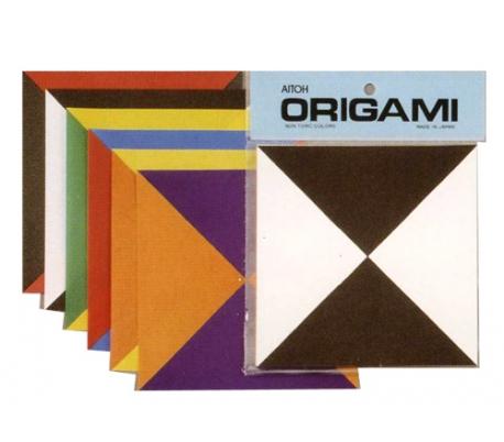 אוריגמי - משולשים בשני צבעים