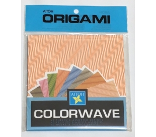 אוריגמי בהדפס גלי צבע